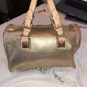 Michael Kors Bags - Michael Kors Gold Medium Satchel